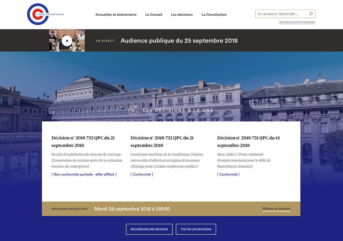 aec2a3b8679 Conseil Constitutionnel - Rapport d Activité 2018