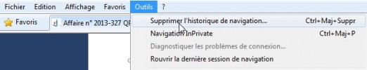 Photo 4 :Vider le Cache de Internet Explorer