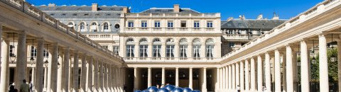 Le Conseil constitutionnel vu de la cour d'honneur du Palais Royal