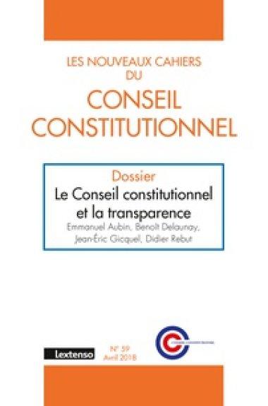 Couverture du Nouveau Cahier du Conseil constitutionnel n° 59