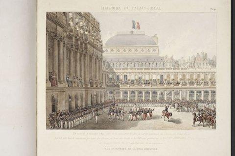Palais Royal - Vue intérieure de la cour d'honneur