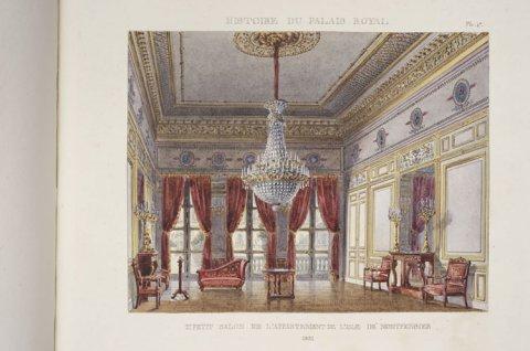Deuxième petit salon de l'appartement de l'aile Montpensier