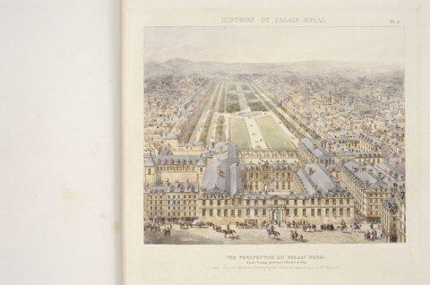 Vue en perspective du Palais-Royal