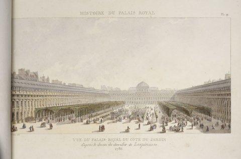 Vue des jardin du Palais-Royal
