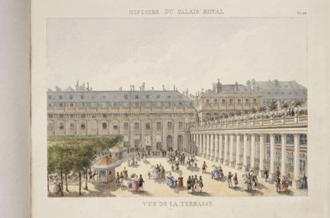 Vue de laterrasse du Palais-Royal